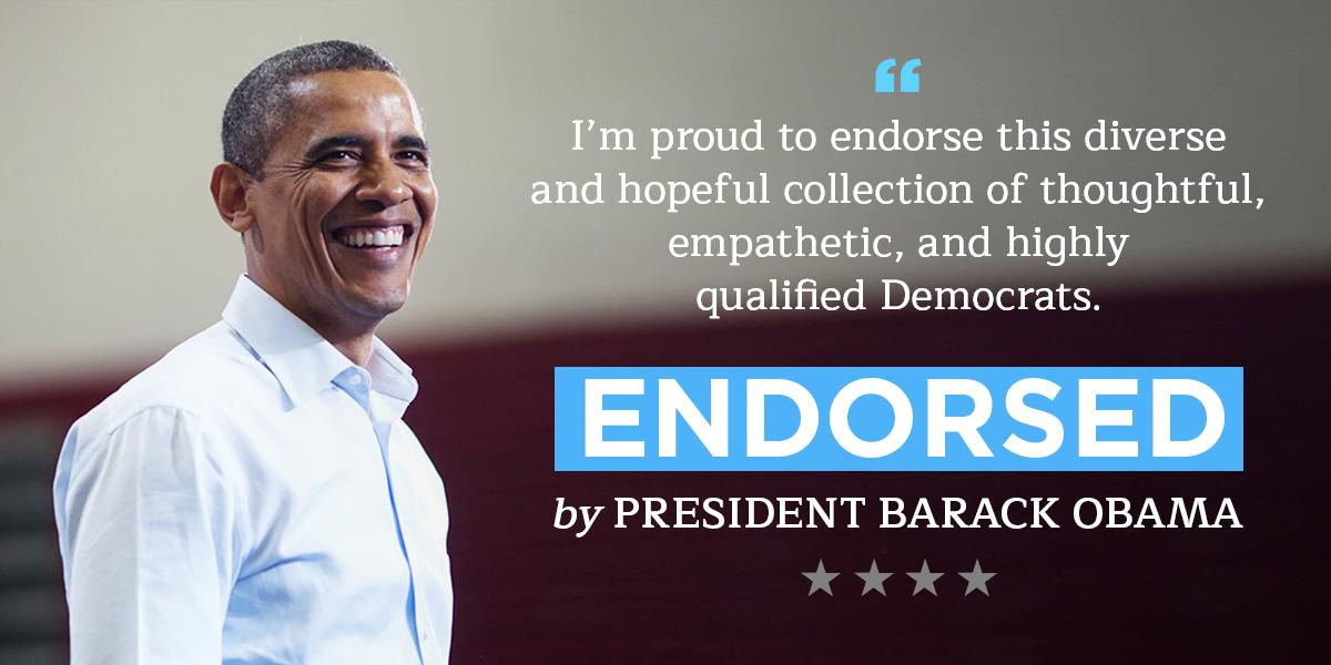 Endorsed by Barack Obama